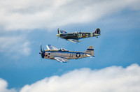 Spitfire and P-47D Thunderboldt